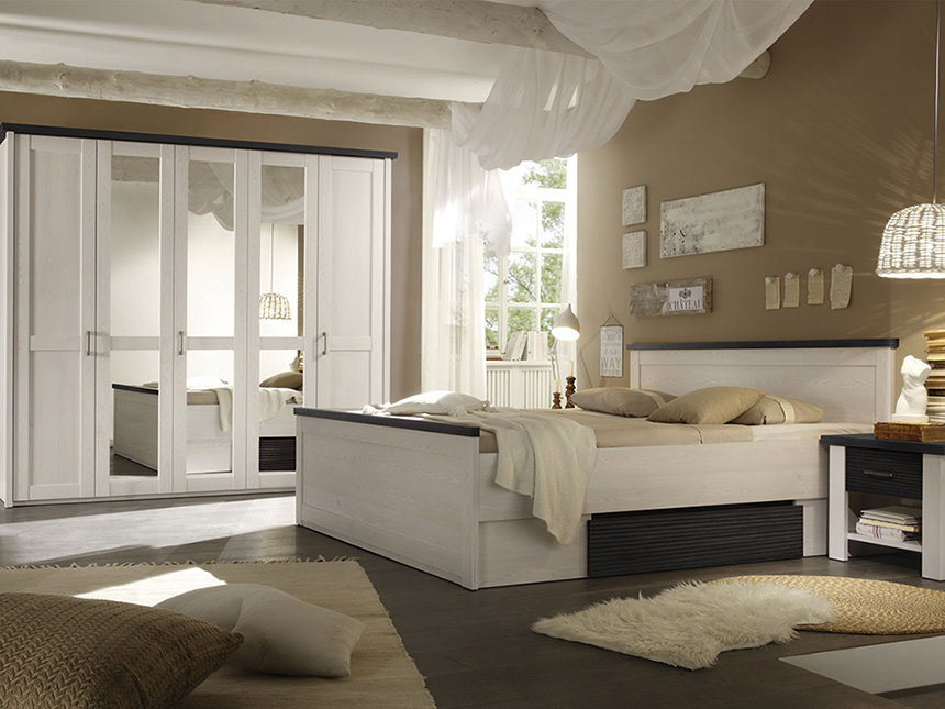 Комплект мебели для спальни LUCA 180 BRW
